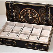 """Для дома и интерьера ручной работы. Ярмарка Мастеров - ручная работа Шкатулка для часов """"Время"""". Handmade."""