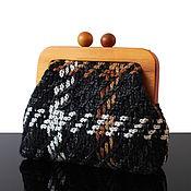 Сумки и аксессуары handmade. Livemaster - original item Tweed bag Tweed handbag on a wooden clasp. Handmade.