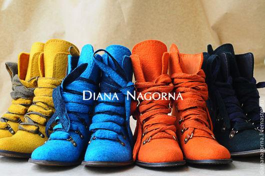 Обувь ручной работы. Ярмарка Мастеров - ручная работа. Купить Ботинки. Handmade. Авторская работа, войлочная обувь