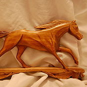 """Для дома и интерьера ручной работы. Ярмарка Мастеров - ручная работа """"Год лошади ключница""""резьба по дереву. Handmade."""