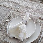 Свадебный салон handmade. Livemaster - original item LINEN NAPKIN WITH FRINGE. Handmade.