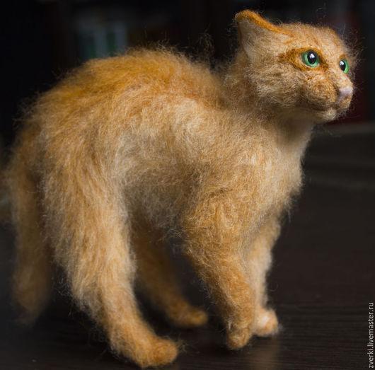 Игрушки животные, ручной работы. Ярмарка Мастеров - ручная работа. Купить Бойцовый кот. Handmade. Оранжевый, сердитый