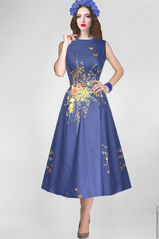 Платье из сатин-стрейч