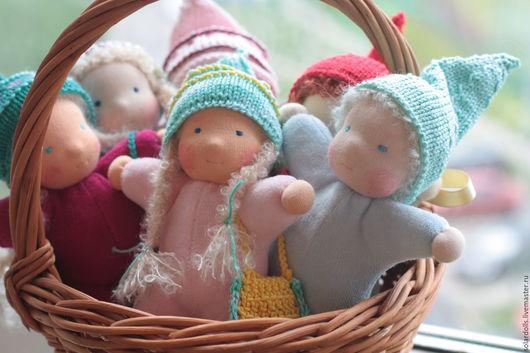 Вальдорфская кукла ручной работы. Гномы 15-17 см. SolarDolls, (Julia Solarrain