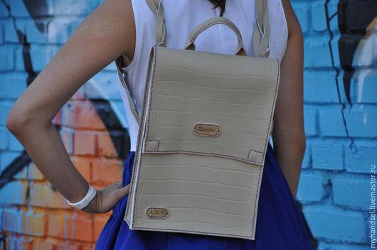 Рюкзачок/ Наплечная сумка/ кожа быка/ исключительно ручная работа/ от 7300 рублей /Приглашаем Вас в гости vk.com/myhandsel