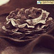 """Цветы и флористика handmade. Livemaster - original item Войлочная брошь  """"Шоколадная роза"""". Handmade."""
