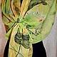 """Шарфы и шарфики ручной работы. Шарф батик """"Лето. Стрекозы"""". Батик Елены Котовой. Интернет-магазин Ярмарка Мастеров. Лето"""