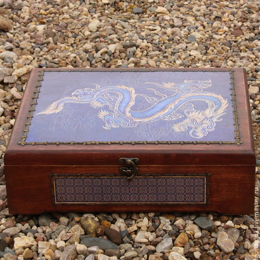 Китайская коробка для документов, памятных фотографий, записей и рисунков. Формат А4.
