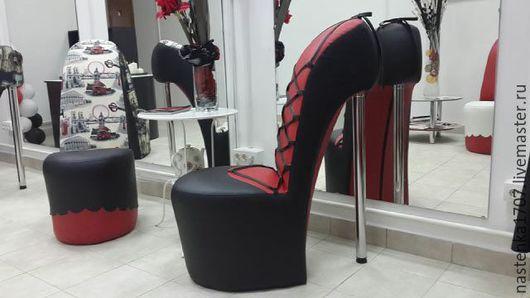 Мебель ручной работы. Ярмарка Мастеров - ручная работа. Купить кресло-туфелька в эко коже. Handmade. Разноцветный, дизайнерская мебель
