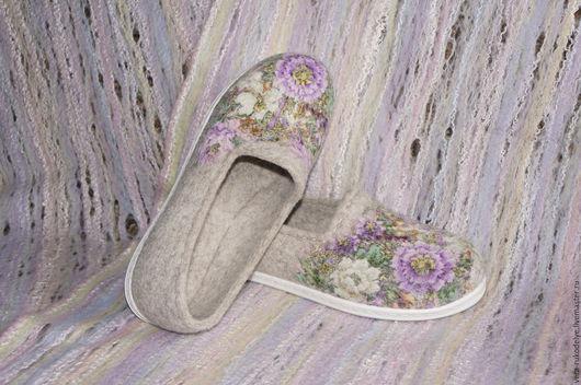 """Обувь ручной работы. Ярмарка Мастеров - ручная работа. Купить Слипоны валяные по мотивам модели """"Цветочное вдохновение"""". Handmade."""