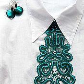 Аксессуары handmade. Livemaster - original item Tie Turquoise. Handmade.