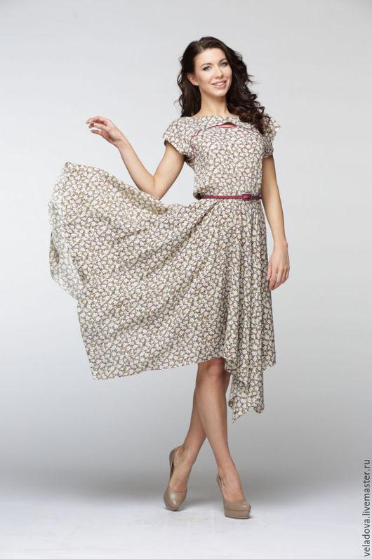 """Платья ручной работы. Ярмарка Мастеров - ручная работа. Купить Платье """"Флорет"""". Handmade. Комбинированный, платье на лето, платье, цветы"""