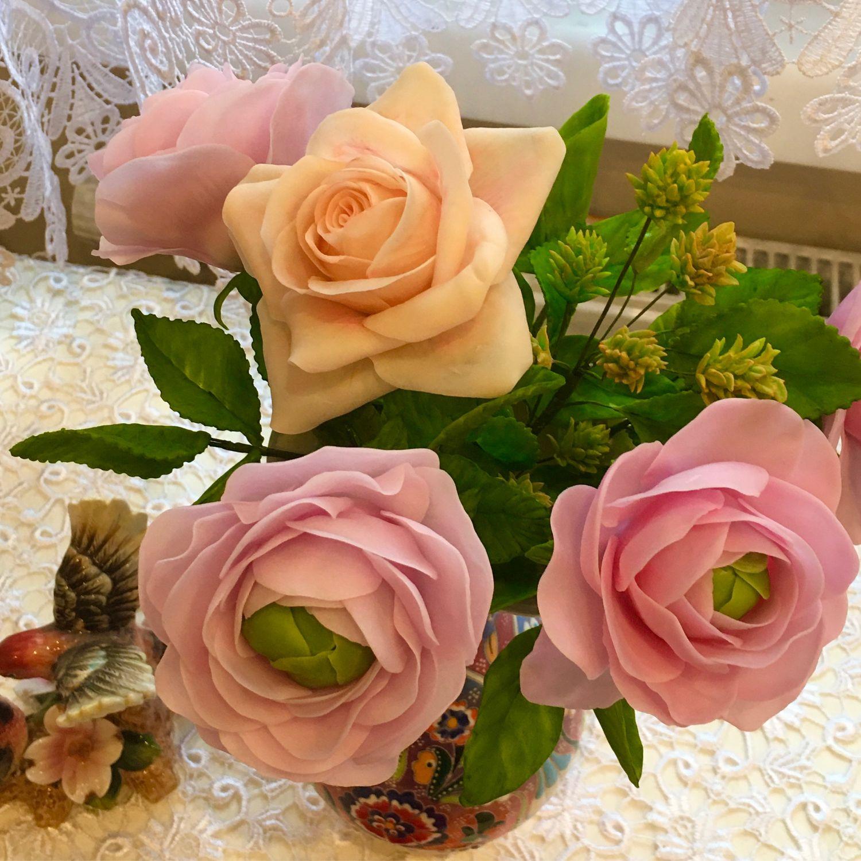 Цветы из глины. Ручная работа, Букеты, Москва,  Фото №1