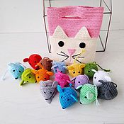 Куклы и игрушки handmade. Livemaster - original item Cat-and-mouse. Toy . Learn the invoice and color with the kids.. Handmade.