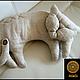 Игрушки животные, ручной работы. Ярмарка Мастеров - ручная работа. Купить Подушка игрушка из льна Кот нагломорд ручная работа. Handmade.