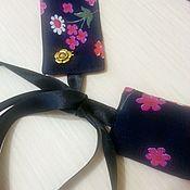 Аксессуары handmade. Livemaster - original item A belt of cotton, textile belt, blue belt, belt with ribbons. Handmade.