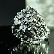 Украшения handmade. Livemaster - original item 925 sterling silver ring with natural garnet. Handmade.