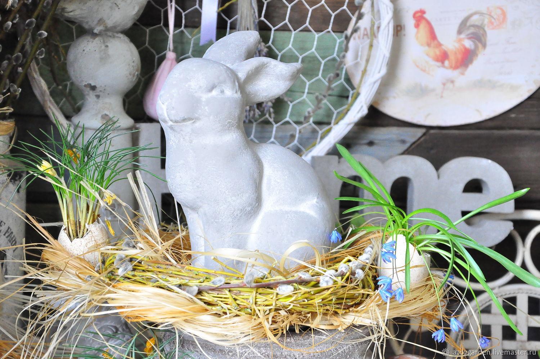 Figurine Hare concrete Provence garden rabbit, Figurines, Azov,  Фото №1
