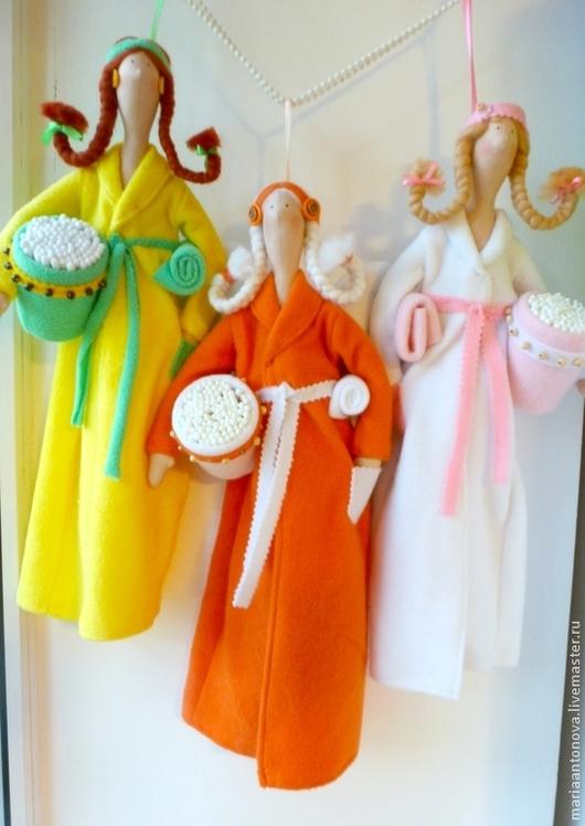 Ванная комната ручной работы. Ярмарка Мастеров - ручная работа. Купить Хранительницы дисков и палочек куклы тильды. Handmade. Тильда