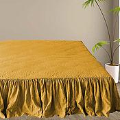 Для дома и интерьера handmade. Livemaster - original item the valance. Bed skirt with organic linen ruffles. Handmade.