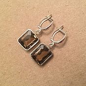 Украшения handmade. Livemaster - original item Earrings with rauchtopaz. Handmade.