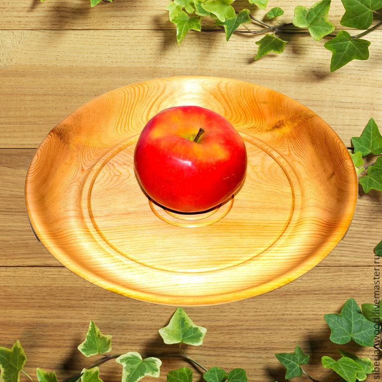 Wooden plate Dish 27#12, Plates, Novokuznetsk,  Фото №1