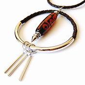 Украшения handmade. Livemaster - original item Necklace with agate beads-JI. Handmade.