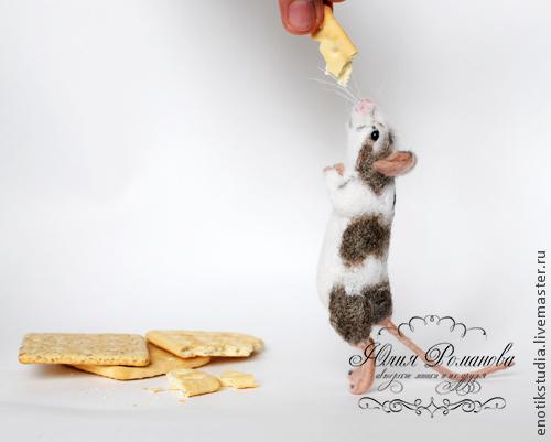 Игрушки животные, ручной работы. Ярмарка Мастеров - ручная работа. Купить мышка Зизи. Шерстяная скульптура. Handmade. Мышка, мышь