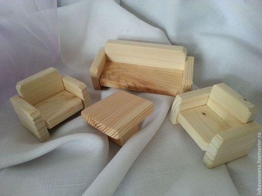Декупаж и роспись ручной работы. Ярмарка Мастеров - ручная работа. Купить Мебель кукольная,набор,массив сосны. Handmade. Белый