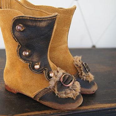 """Куклы и игрушки ручной работы. Ярмарка Мастеров - ручная работа Обувь для Антикварной и современной куклы """"Brown bow"""". Handmade."""