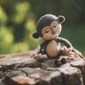 Куклы и игрушки ручной работы. Ярмарка Мастеров - ручная работа игрушка из шерсти Мартышка. Handmade.