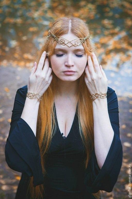 Диадема венец тиара корона эльфийские украшения эльфийская диадема, Глорфин