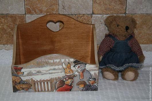 """Корзины, коробы ручной работы. Ярмарка Мастеров - ручная работа. Купить Короб-подставка для мелочей """"Foxwood tales-2"""". Handmade."""