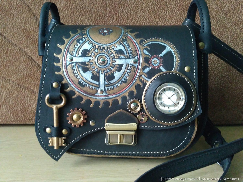 Кожаная сумка SteamTime, Классическая сумка, Чебоксары,  Фото №1