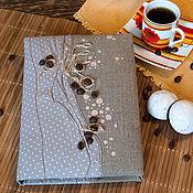 Канцелярские товары ручной работы. Ярмарка Мастеров - ручная работа Кофейный блокнот. Handmade.