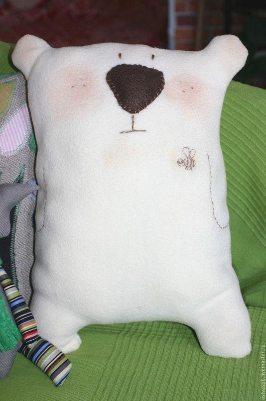 Игрушки животные, ручной работы. Ярмарка Мастеров - ручная работа. Купить Мишка-подушка. Handmade. Бежевый, медведь игрушка