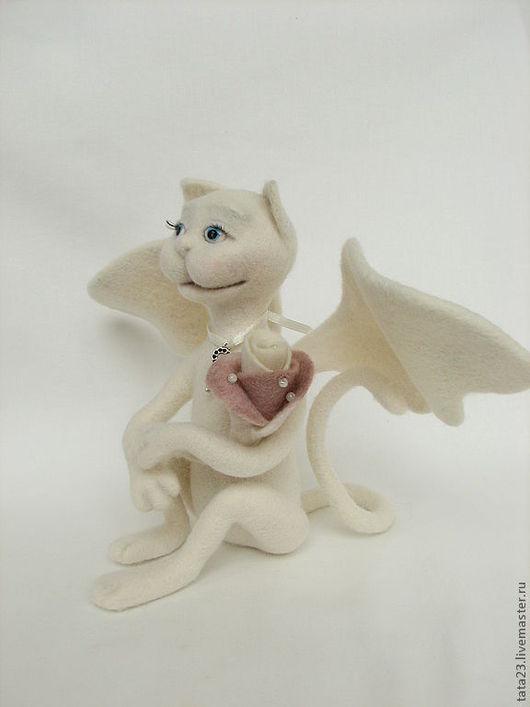 Игрушки животные, ручной работы. Ярмарка Мастеров - ручная работа. Купить игрушка кошечка-ангел :)кот-ангел валяный. Handmade.