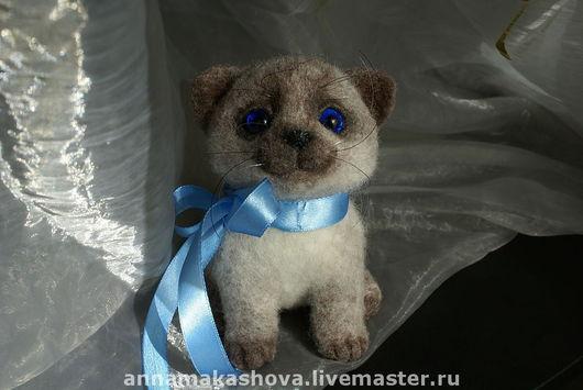 Игрушки животные, ручной работы. Ярмарка Мастеров - ручная работа. Купить кот Василёк. Handmade. Кот, подарок, котик