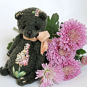 Куклы и игрушки ручной работы. Ярмарка Мастеров - ручная работа Мишка болотно - розовый. Handmade.