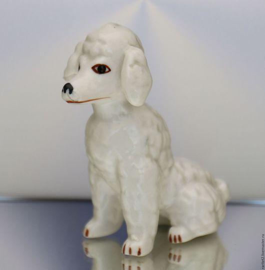 Винтажные предметы интерьера. Ярмарка Мастеров - ручная работа. Купить Собака пудель статуэтка фарфор Англия 23. Handmade. Статуэтка