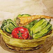 Картины и панно handmade. Livemaster - original item Painting For The Kitchen Still Life With Vegetables. Handmade.