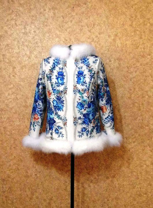 Верхняя одежда ручной работы. Ярмарка Мастеров - ручная работа. Купить Зимняя куртка из платка. Handmade. Зимняя куртка