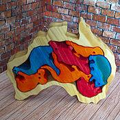 """Мягкие игрушки ручной работы. Ярмарка Мастеров - ручная работа Пазл """"Животные Австралии"""". Handmade."""