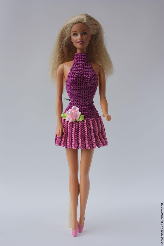 Вязаные платье для кукол барби