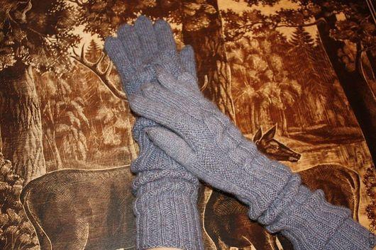 Варежки, митенки, перчатки ручной работы. Ярмарка Мастеров - ручная работа. Купить Комфорт 100% Альпака перчатки женские. Handmade.