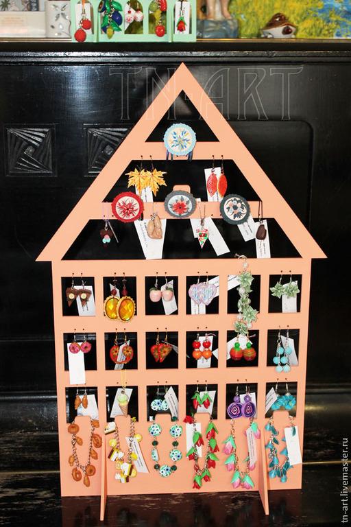 Наши подставки-домики для бижутерии в замечательном магазине украшений из полимерной глины `Красота и лепота`