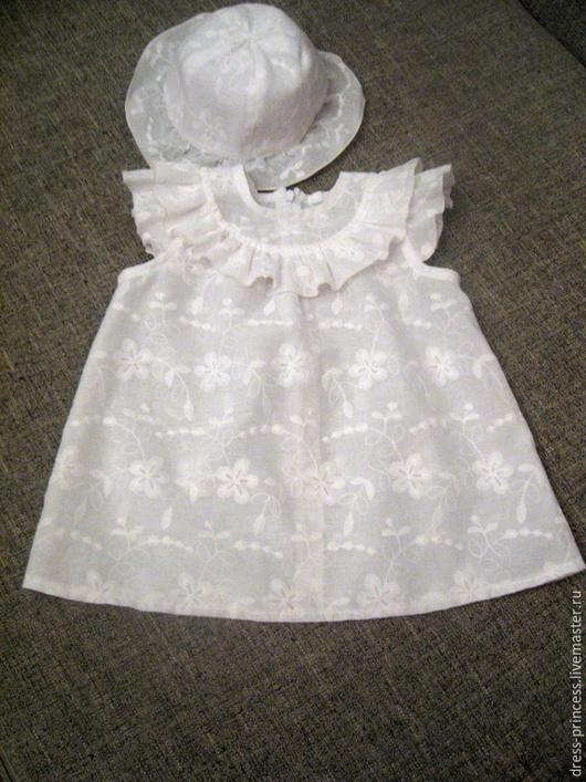 """Одежда для девочек, ручной работы. Ярмарка Мастеров - ручная работа. Купить комплект """"Мой ангел"""". Handmade. Белый, хлопок 100%"""