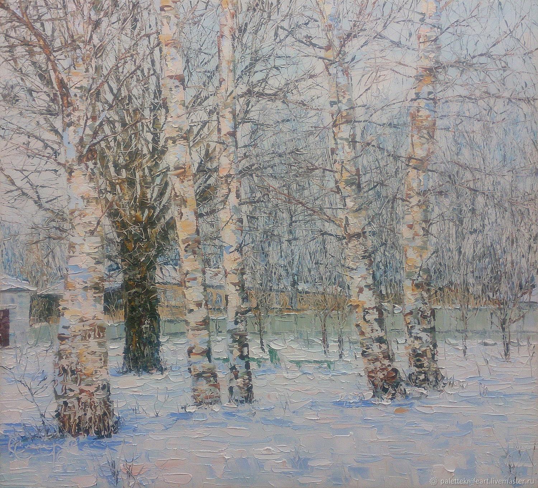 Березы в зимнем парке, Картины, Бежецк, Фото №1