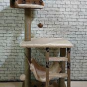 Когтеточки ручной работы. Ярмарка Мастеров - ручная работа Игровой Комплекс стойка с лестницей. Handmade.