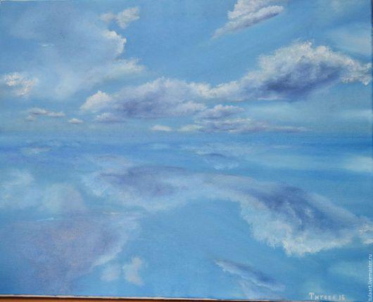 Пейзаж ручной работы. Ярмарка Мастеров - ручная работа. Купить Облака. Handmade. Синий, облака, природа, масло, холст на подрамнике